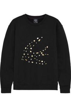 McQ Alexander McQueen | Embellished cotton-jersey sweatshirt | NET-A-PORTER.COM