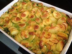 Spinazie met kip en kaas uit de oven