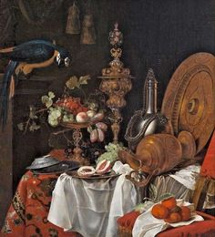 Amazing Still Life with Fruit and Birds 18th Century Old Master Oil Painting | eBay