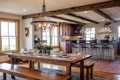 This run-down, abandoned farmhouse was a complete gut job. See how Chip and Joanna transformed it with rustic, Southwestern-inspired style. From the experts at HGTV.com. Farm table