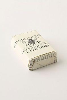 I love soap covered in pretty paper.