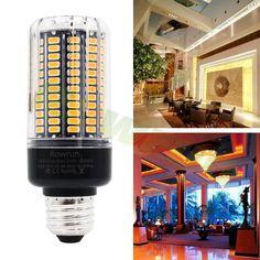 Rowrun Led 15 Watt Corn Bulb Incandescent Replacement Bulb 1300lm 5736smd 156 Pcs Leds Warm White27003000k E26 E27 Pack Of 1 Want Ext Light Bulb Bulb Light