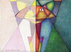 "Saatchi+Online+Artist+daniel+levy;+Drawing,+""symmetric""+#art"