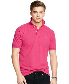 This iconic relaxed-fitting polo shirt is crafted from durable, breathable cotton mesh and finished with Ralph Lauren's signature pony embroidery.   Cotton   Machine washable   Imported   Ribbed polo