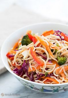Asian Noodle Salad on Simply Recipes