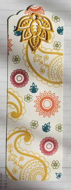 Paisleys and Posies tag Stampin Up Anleitung, Beaded Bookmarks, Slider Cards, Card Tags, Gift Tags, Book Markers, Paisley, Stamping Up Cards, Paper Tags