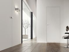 Interior Design For Bathroom Code: 6463929959 Apartment Interior Design, Bathroom Interior Design, Loft Door, Interior Window Shutters, Appartement Design, White Doors, Room Doors, Internal Doors, Entrance Doors