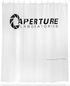 Portal - Aperture Laboratories Shower Curtain ($19.99)