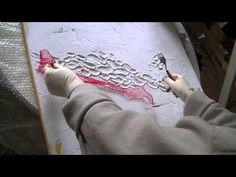 Acrylmalerei 1 Abstract acrylic Painting 1 Spachtelmasse Modelling paste - YouTube