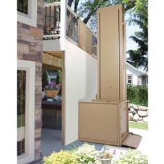 """Bruno's """"Extended"""" VPLs provide simple access from floor to floor. Down to the basement, up to a deck or in an enclosed hoistway, the VPL-3200 Series offers up to 14' (4343mm) of lifting height and 750lbs of weight capacity."""