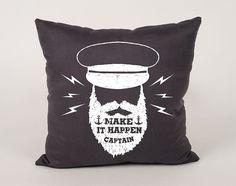 Ship captain Cotton throw Pillow Cover  16x16 18x18 by Daneeyo
