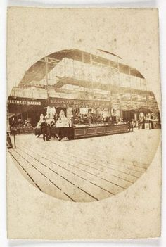Roger Fenton, The Eastman Dry Plate and Film Company stand at a trade fair. 1889 (ca). Kodak circular snapshot print. National Media Museum.