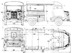1967 Citroen HY Bus blueprint