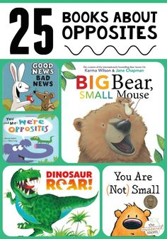 Are you learning about opposites with your preschooler or kindergartner? Be sure to read some favorites from this list of books about opposites! Opposites Preschool, Preschool Literacy, Preschool Books, Early Literacy, Book Activities, Preschool Lessons, Books For Preschoolers, Kindergarten Readiness, Preschool Letters