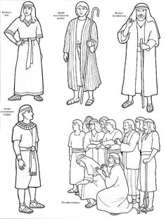 Bible Story Coloring Page See More Joseph And His Brothers