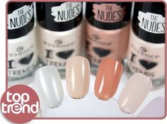 "hi beauties, get the fashionable nude look on your nails with the ""i ""heart""-Emoticon trends"" nail polishes! check out 4 of the 12 new shades on the nail wheel. which one is your favorite? a. ""01 walk on the white side"" b. ""02 i nude it"" c. ""03 i'm lost in you"" d. ""05 pure soul"" #essence #cosmetics #nailpolish #nails #ilovetrends #ilovenude #essenceupdate"