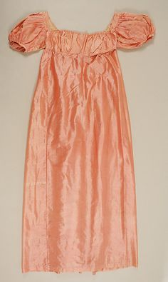 early 19th century pink slip (under dress or gown? Listed as a slip, but looks like it could be worn alone or under a net dress.) - in the Metropolitan Museum of Art costume collections.