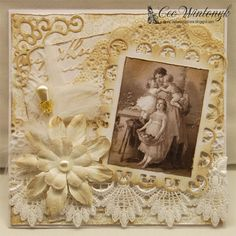 CW Card Creations: Lace & Sepia