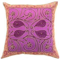 Fantastic & decorative amethyst #pillow cover. Made in India.