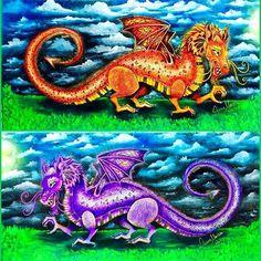 Dragões de São Jorge.  ATT.: Tutorial em breve.  #dragoes #SaoJorge #Protecao #Fe #color #florestaencantada #johannabasford #editorasextante #colorfull #adultcolouring #coloringbook #coloring #arte #art #artista #artist #instacolors  #colors #cores  #enchantedforest  #adultcoloringbook  #desafioscoloridos  #florestaencantadadkpm #meucolorido #antiestresse #amopintar  #instaDKPM #creativelycoloring #paintingbook #colorfy  @reinoanimaltop  @jardim_da_isa @terapianojardim @jardimcolorido…