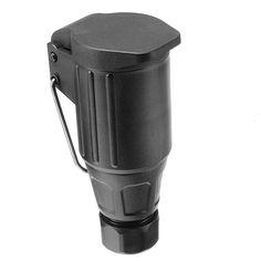 13 Pin Plastic Trailer Long Socket 13 Hole Plastic Plug Socket With Cover