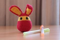 Wooly Bunny crocheted rabbit by knitspirit on Etsy, €8.00