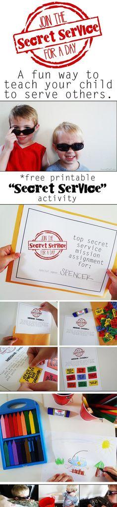 PIN secret service activities in kindness activites