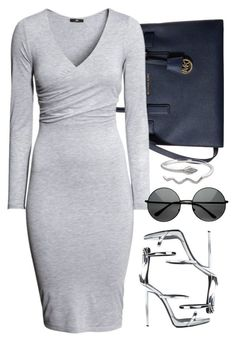 """""""6/19/16"""" by camgueyana ❤ liked on Polyvore featuring MICHAEL Michael Kors, H&M and Giuseppe Zanotti"""