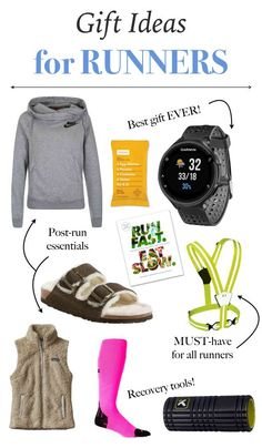 Pulling together gift ideas for runners is probably my favorite gift guide of all because, well, they're all things I either want or have and love. Running Gifts, Running Socks, Running Gear, Running Workouts, Running Equipment, Gifts For Runners, Unique Gifts For Men, Christmas Gift Guide, Christmas Ideas