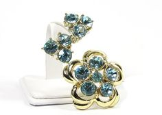 Vintage Rhinestone Brooch and Earring Cocktail by SassyBeauties