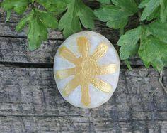 Midsummer, sun stone, litha altar decor, palm stone, summer decor, eco-friendly offering, ritual offering, pagan offering, wiccan offering,