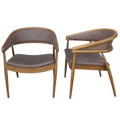 Pair of Modernist Gio Ponti Style Chairs | From a unique collection of antique and modern armchairs at https://www.1stdibs.com/furniture/seating/armchairs/