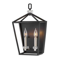 Hinkley Lighting 3532 2 Light Tall Wall Sconce with Crystal Accents Black / Polished Nickel Indoor Lighting Wall Sconces Hinkley Lighting, Wall Sconce Lighting, Lighting Store, Home Lighting, Black Candelabra, Ceiling Installation, Wall Lights, Ceiling Lights, Sloped Ceiling