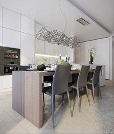 White Kitch - Кухня в современном стиле   PINWIN - конкурсы для архитекторов, дизайнеров, декораторов
