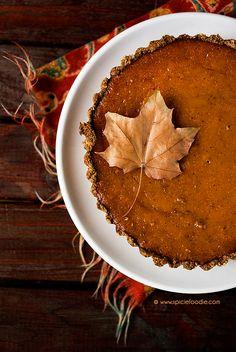 Mini Pumpkin Pies Made with Homemade Hokaido Pumpkin Puree & Acorn Oat Flour Pie Crust