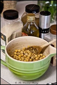 Clean Eating Roasted Chickpeas