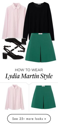 """""""Lydia Martin Inspired School Outfit"""" by staystronng on Polyvore featuring Uniqlo, Valentino, Rebecca Minkoff, school, TeenWolf, LydiaMartin and tw"""