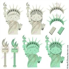 In case you have missed it here is my complete set of the Statue of Liberty…