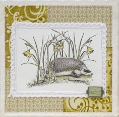 LaBlanche Stamp Company - Hedgehog with Flowers - Scrapbook.com