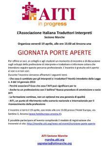 Giornata Porte Aperte ad Ancona