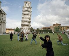 Martin Parr The Leaning Tower of Pisa. From 'Small World'. Pisa, Italy. 1990.