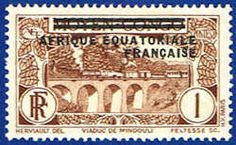 French Equatorial Africa 11 Stamp - Middle Congo Stamp - AF FEA 11-1 MH