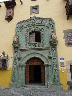 Doorway of Casa de Colón, Las Palmas, Gran Canaria Canario, Beautiful Space, Doorway, Portal, Spaces, Holidays, Architecture, Building, Travel