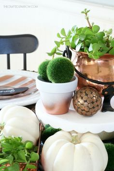 Copper Inspired Fall Tablescape, so pretty!!