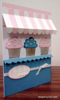 simply stampin DT card, cupcake shop