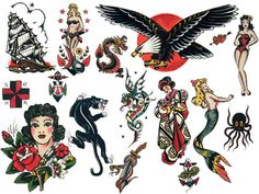 sailor jerry tattoo flash | Tumblr