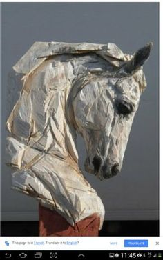 PPC sculpted horse head