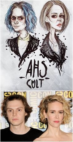 Ryan Murphy offered a tease of Sarah Paulson and Evan Peters' 'American Horror Story: Cult' relationship. Halloween Look, Halloween Makeup, American Horror Story Cult, American Story, Ahs Cult, Story Drawing, Evan Peters, Amazing Drawings, Book Tv