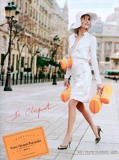 Veuve Clicquot City Traveller (I read somewhere that this was designed by Louis Vuitton, thus Marc Jacobs, but not sure) Veuve Cliquot, Vintage Champagne, Parisian Chic, Love To Shop, Lifestyle Blog, White Dress, Glamour, My Style, Packaging
