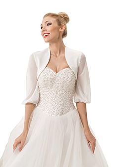 Damen braut Hochzeits aus Chiffon Abend Ball Tuch Bolero Kaschmirwolle uberwurf: Amazon.de: Bekleidung